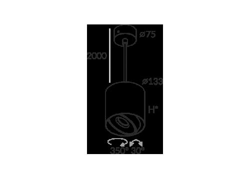 Labra PROXA MOVE ZW H130 edge.LED 7.5W 5-0732 Wisząca