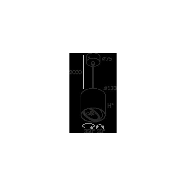 Labra PROXA MOVE H130 ZW QR111 5-0846 Wisząca