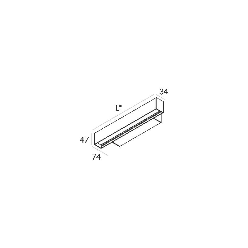 Labra RAY KN.854mm 19W 6-0603 Kinkiet