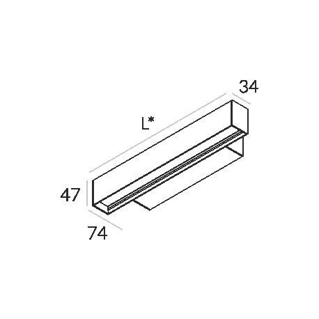 Labra RAY KN.854mm 35W 6-0604 Kinkiet