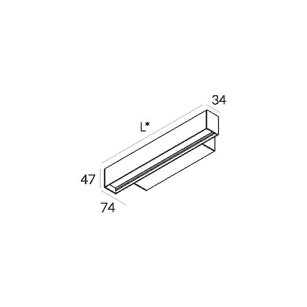 Labra RAY KN.1134mm 23W 6-0605 Kinkiet
