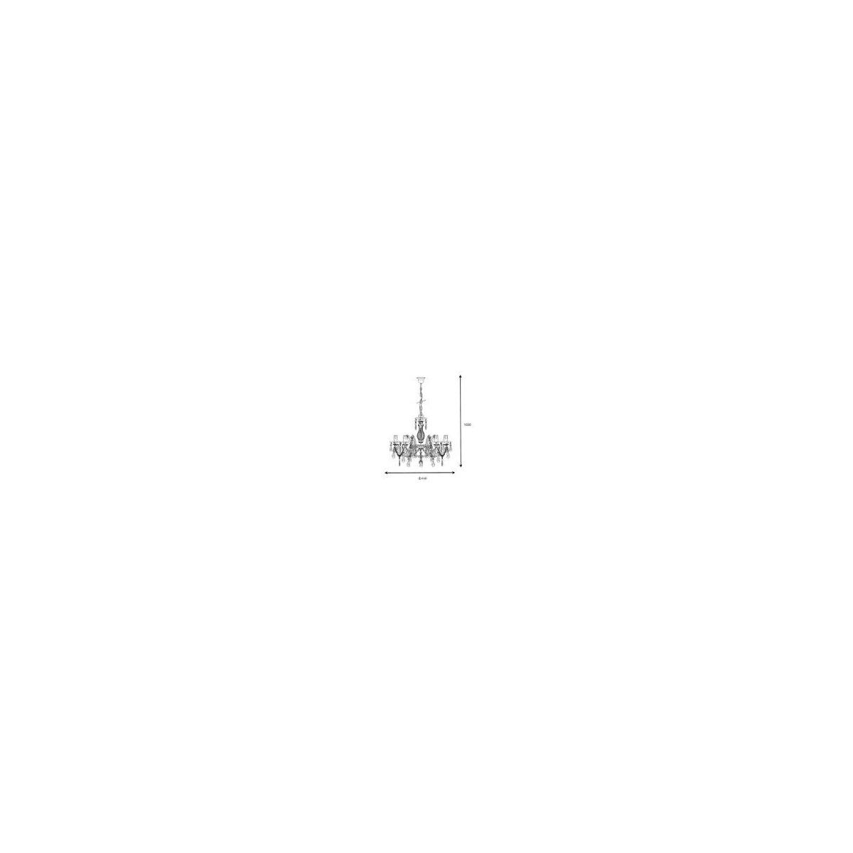 Lucide ARABESQUE 5xE14/40W Clear 78351/05/60 Wisząca