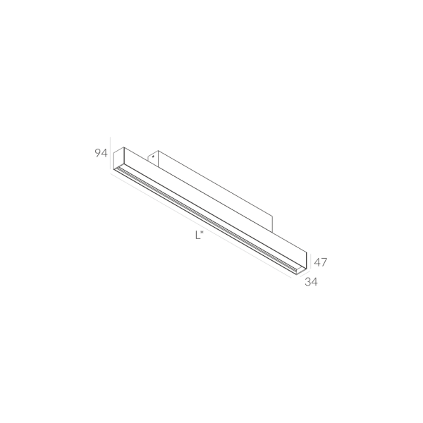 Labra RAY NT.1414mm 57W 6-0619 Sufitowa