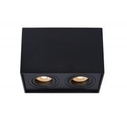 Lucide TUBE Reflektor sufitowy 2xGU10 czarny 22953/02/30