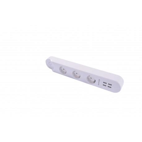 AZZARDO SMART Listwa zasilająca WiFi+USB 32A AZ3477