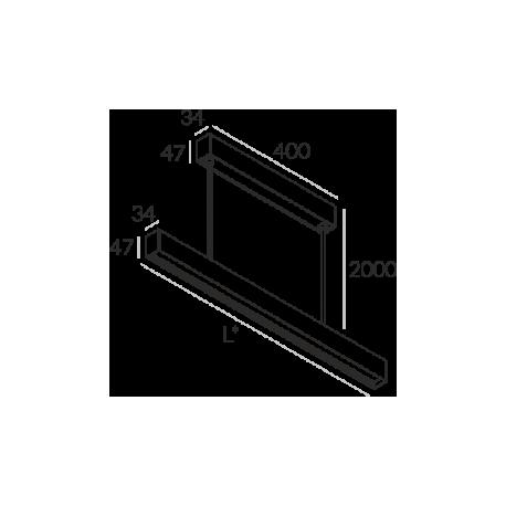 Labra RAY ZW.854mm 19W 6-0624 Wisząca