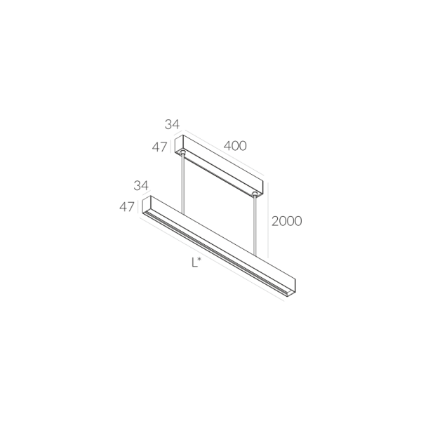 Labra RAY ZW.1134mm 46W 6-0627 Wisząca