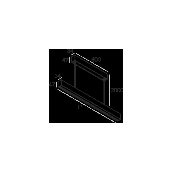 Labra RAY ZW.1694mm 69W 6-0631 Wisząca