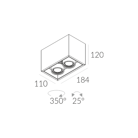 Labra SOLID 110.2 NT GU10 3-0705 Sufitowa