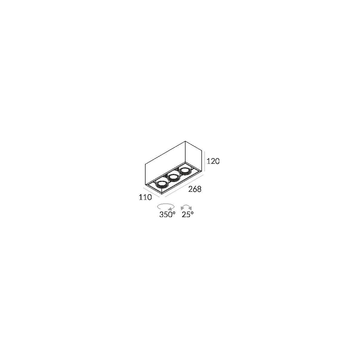 Labra SOLID 110.3 NT GU10 3-0706 Sufitowa