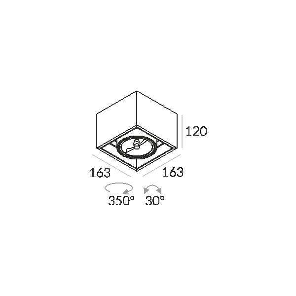 Labra SOLID 163.1 NT 1x50W halogen 3-0651 Sufitowa