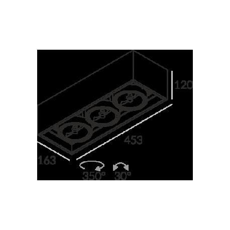 Labra SOLID 163.3 NT 3x50W halogen 3-0653 Sufitowa