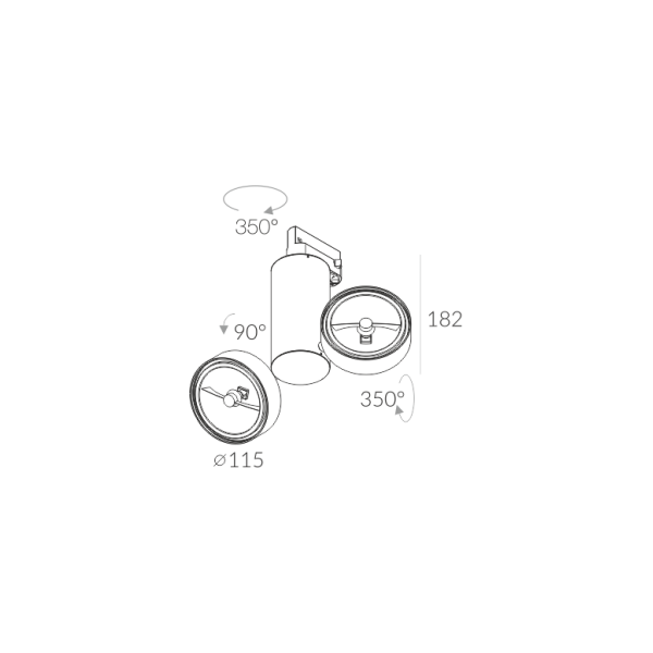 Labra ROBOTIC R2 2x50W - Adaptor 3F 7-0140