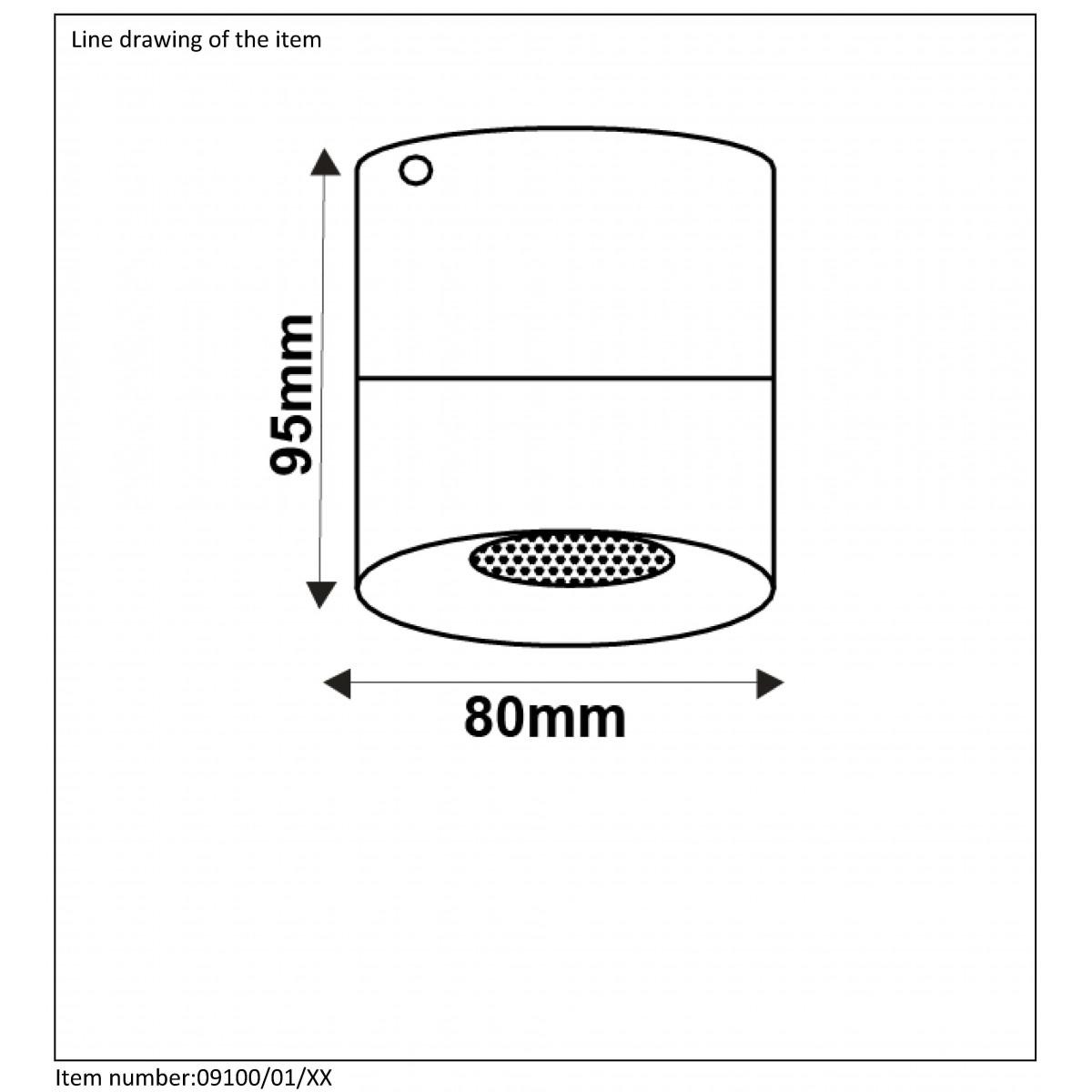 Lucide BODI Round GU10 excl D8 H9.5cm Biały 09100/01/31 Plafon