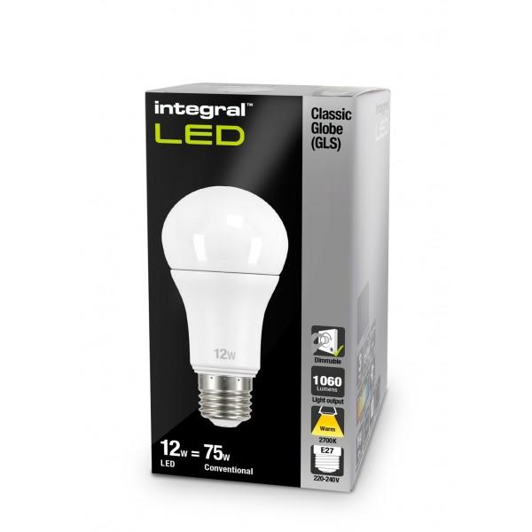 Integral E27 LED Ściemnialna Classic globe 12W 2700K 1060lm 21-05-58