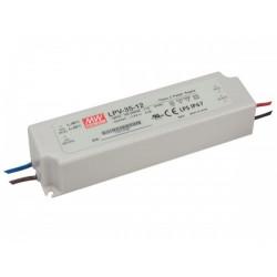 Mean Well Zasilacz do LED Mean Well 35W IP67 LPV-35-12