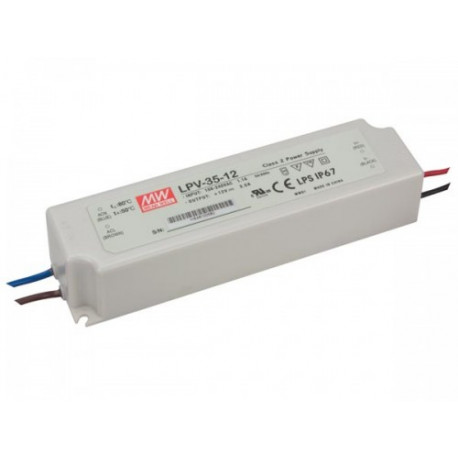 Mean Well Zasilacz do LED Mean Well 35W IP67 LPV-35-12