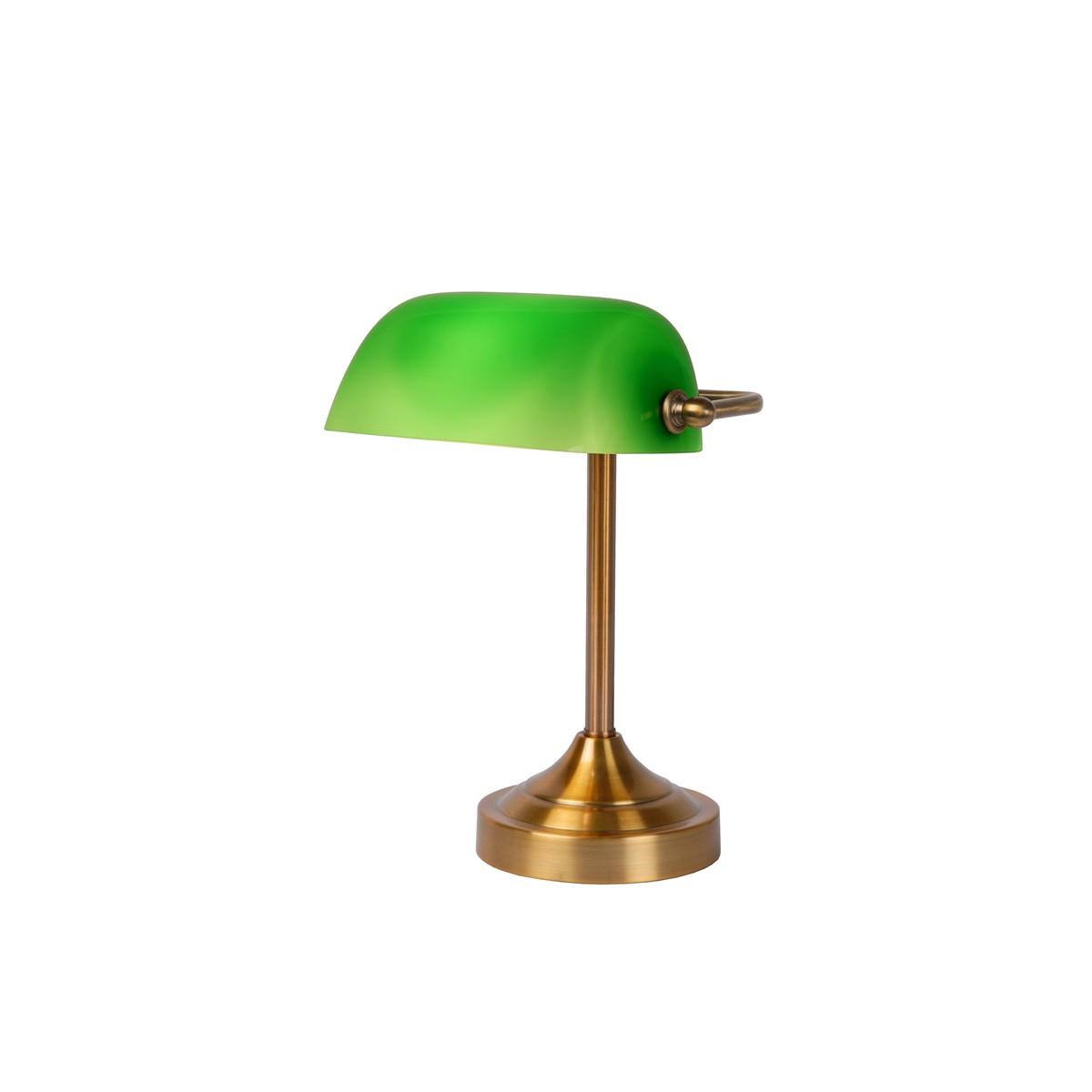 Lucide Banker Lamp E14 W22cm H30cm Glass zielona/ Bronze 17504/01/03