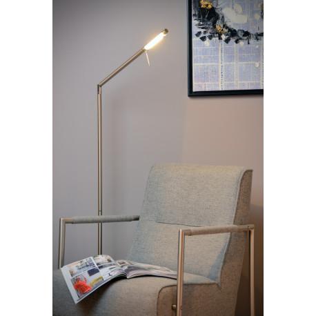 Lucide BERGAMO-LED Lampa podłogowa 6W 3000K 400LM Satin Chr 12719/06/12