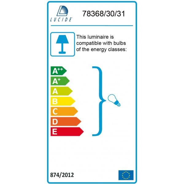 Lucide DOLTI E27 D30 H33cm Acryl/Biały 78368/30/31 Wisząca