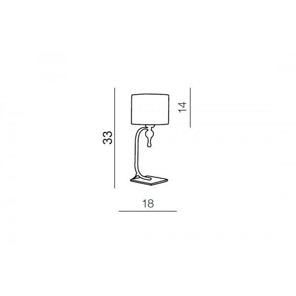 Azzardo IMPRESS WHITE TABLE 1xE27 Stołowa Biały AZ1107