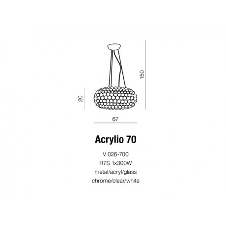 AZzardo ACRYLIO 70cm Wisząca AZ0059
