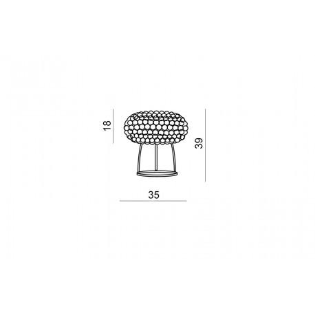Azzardo ACRYLIO TABLE 1xR7s Stołowa Przeźroczysty AZ1099