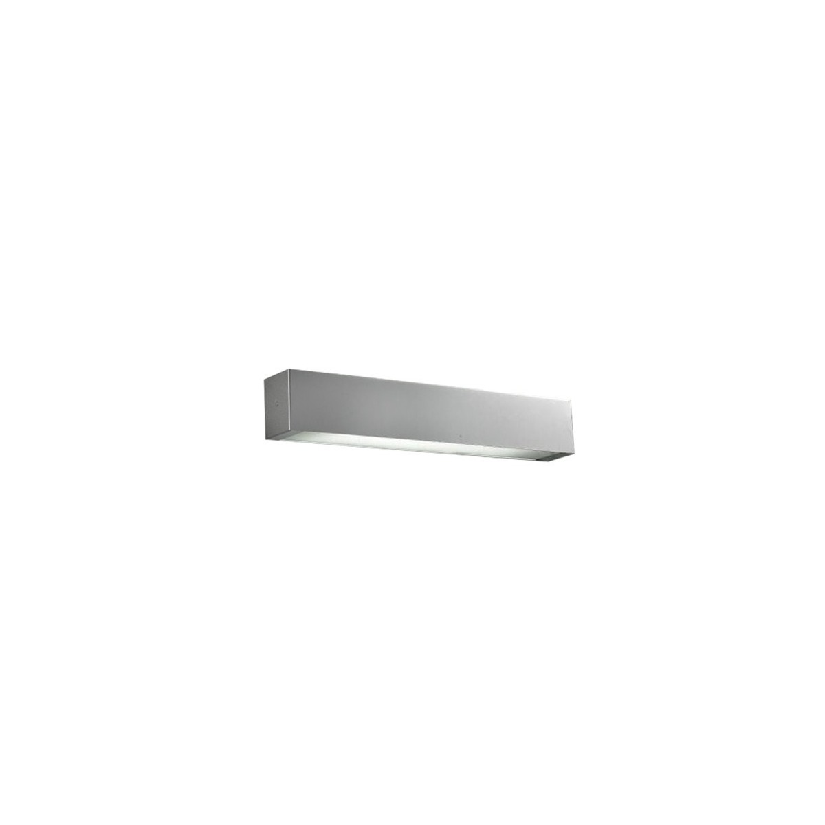 Azzardo ARCHO C ALUMINIUM 1x2G11 Ścienna Aluminium/Biały AZ0201