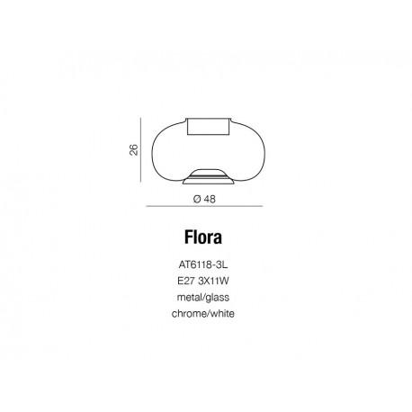 Azzardo FLORA 3xE27 Stołowa Biały AZ0185