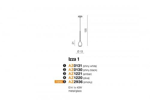 AZzardo IZZA 1 Czarny Wisząca AZ0130