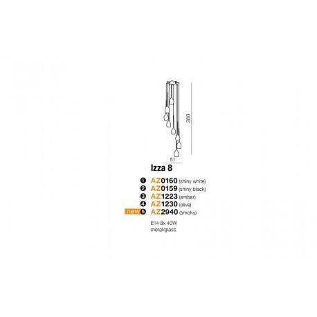 AZzardo IZZA 8 Biały Wiszaca AZ0160