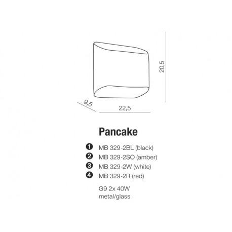 AZzardo PANCAKE Biały MB 329-2 Biały Kinkiet