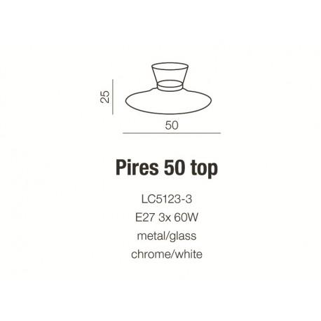 Azzardo PIRES 50 TOP WHITE 3xE27 Sufitowa Biały AZ0280