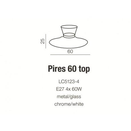 Azzardo PIRES 60 TOP WHITE 4xE27 Sufitowa Biały AZ0281