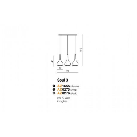 AZzardo Soul 3 Czarny LP 5114-3BK Wisząca