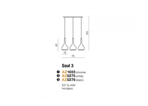 AZzardo Soul 3 Chrom LP 5114-3CR Wisząca