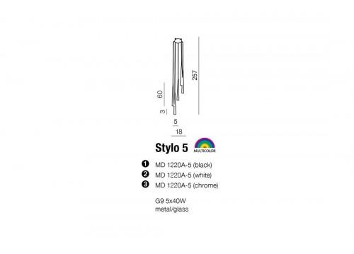 AZzardo STYLO 5 Chrom Wisząca AZ0134