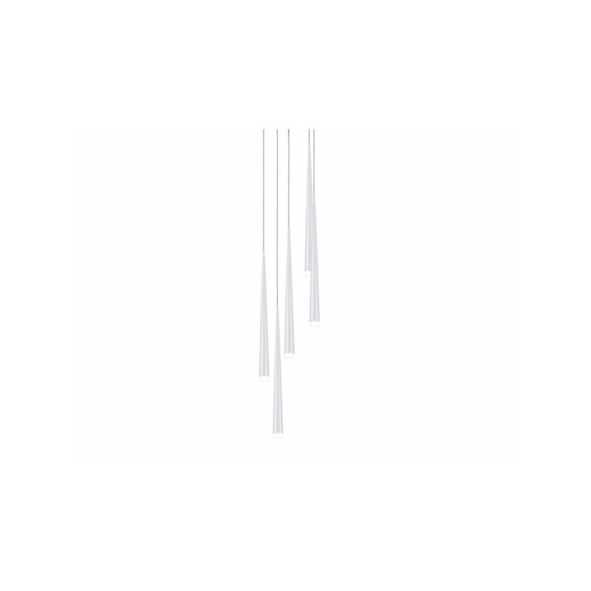 Azzardo STYLO 5 WHITE 5xG9 Wisząca Biały AZ0208