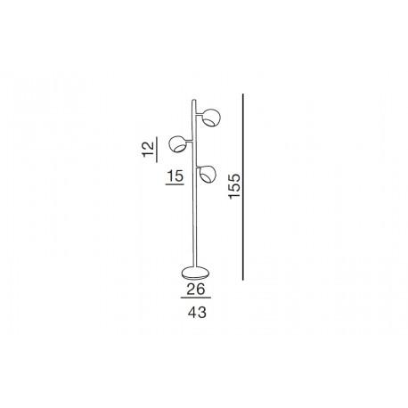 Azzardo TRINTON 3xE14 Podłogowa Chrom AZ0024