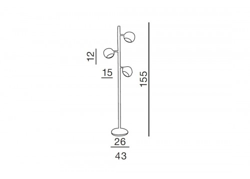 AZzardo TRINTON TS 06112F Stojąca