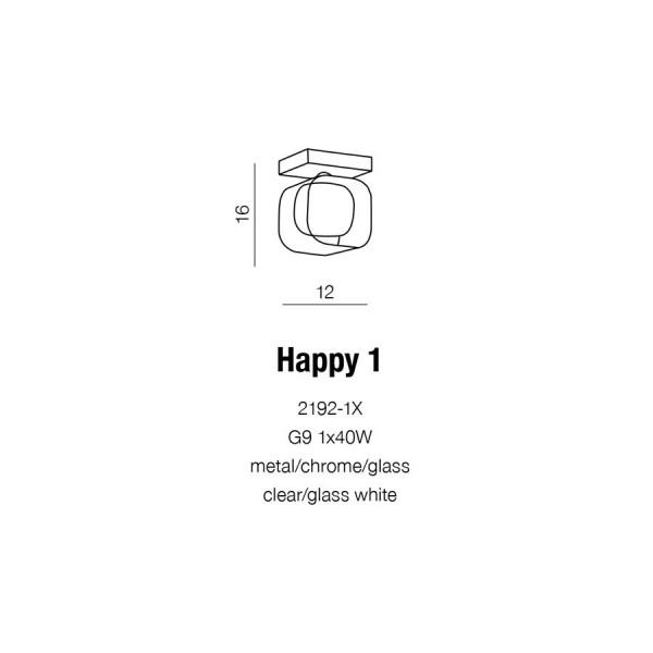 Azzardo HAPPY 1 1xG9 Ścienna Chrom AZ0483