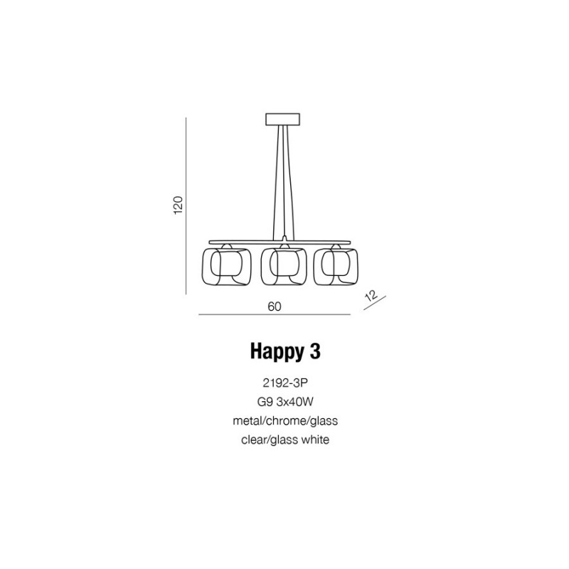 AZzardo Happy 3 2192-3P Wisząca