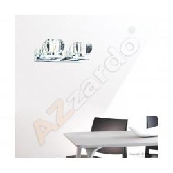 Azzardo RUBIC 2 WALL 2xG9 Ścienna Przeźroczysty/Chrom AZ0491
