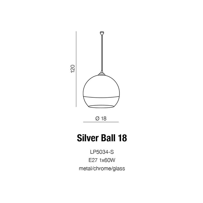 AZzardo Silver Ball 18 LP-5034S Wisząca