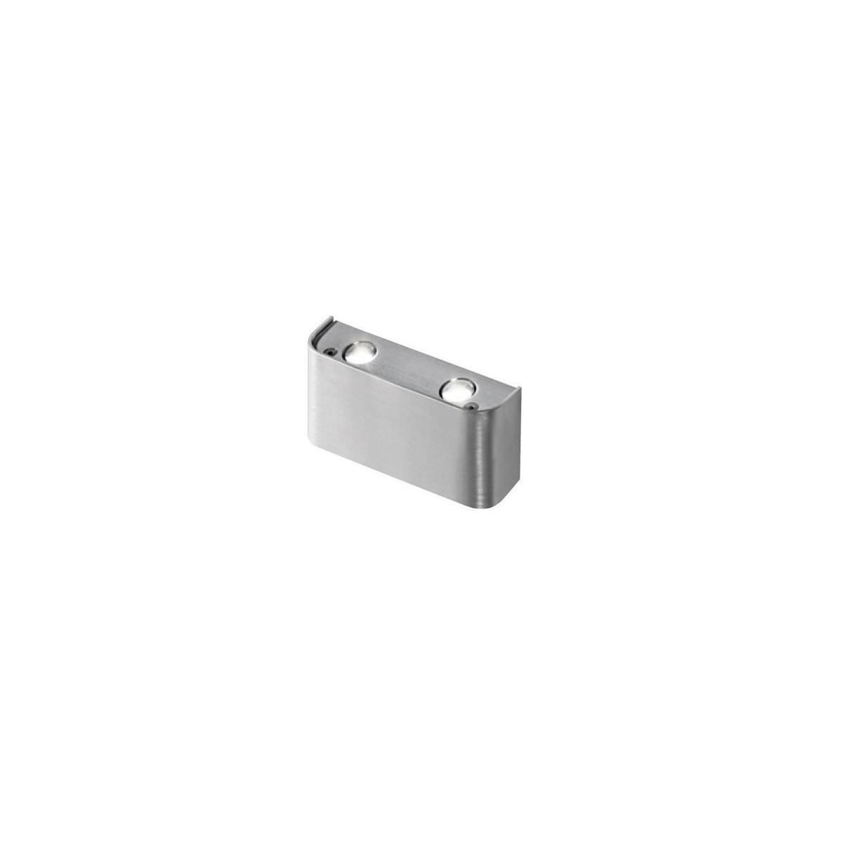 Azzardo GINNO 2 ALU 4xLED Ścienna Aluminium AZ0765