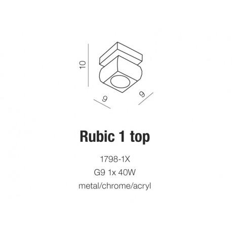 AZzardo RUBIC 1 1798-1X Sufitowa