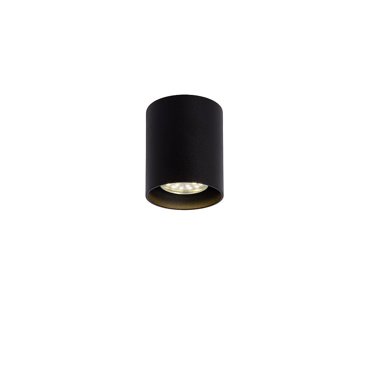 Lucide BODI Round GU10 excl D8 H9.5cm Czarny 09100/01/30 Plafon