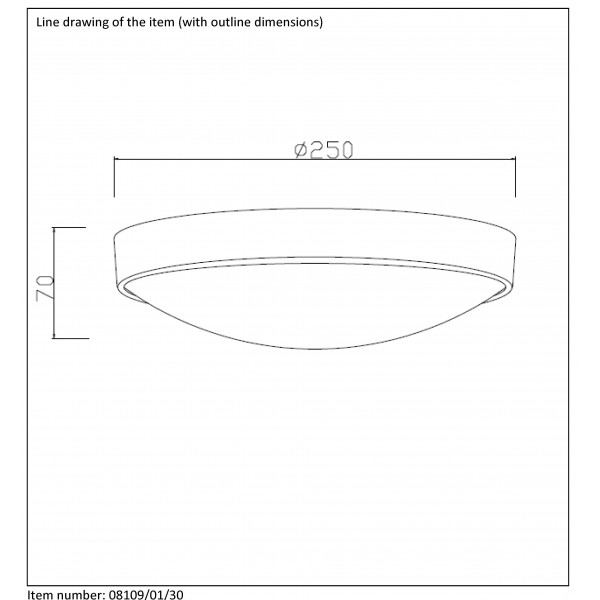 Lucide LEX 1xE27 D23cm Czarny 08109/01/30 Plafon
