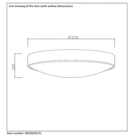 Lucide LEX 2xE27 D30cm Biały 08109/02/31 Plafon