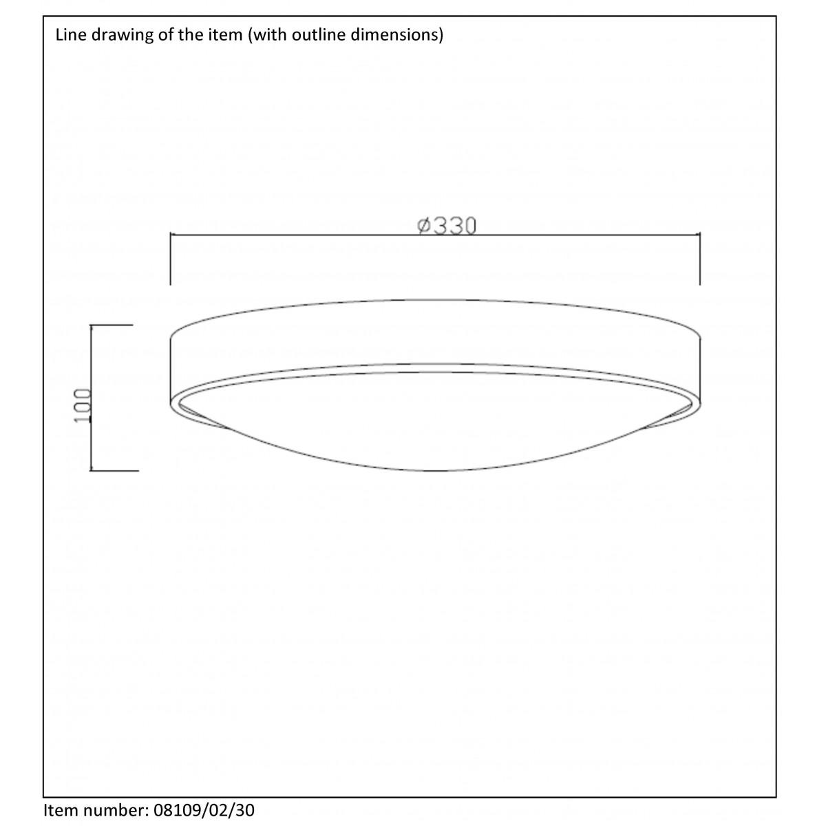 Lucide LEX 2xE27 D30cm Czarny 08109/02/30 Plafon